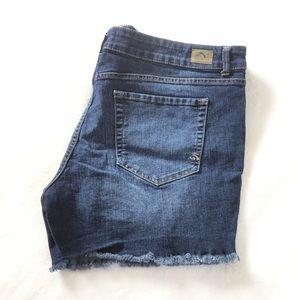 Jordache distressed jeans cut off shorts